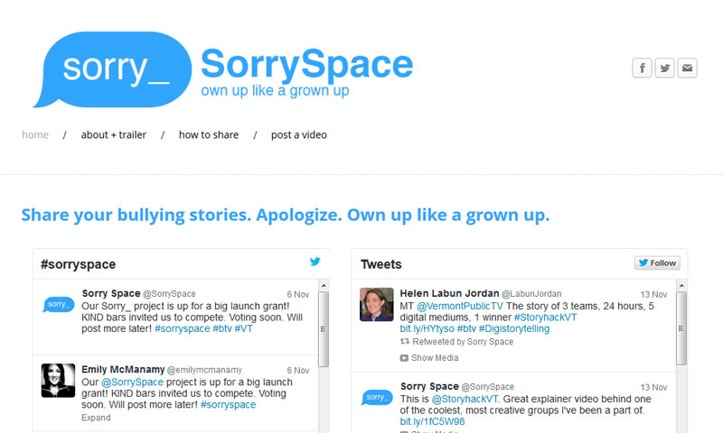 SorrySpace-website